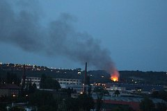 Požár v Hloubětíně.