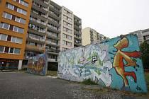 Graffiti na sídlišti v Modřanech.