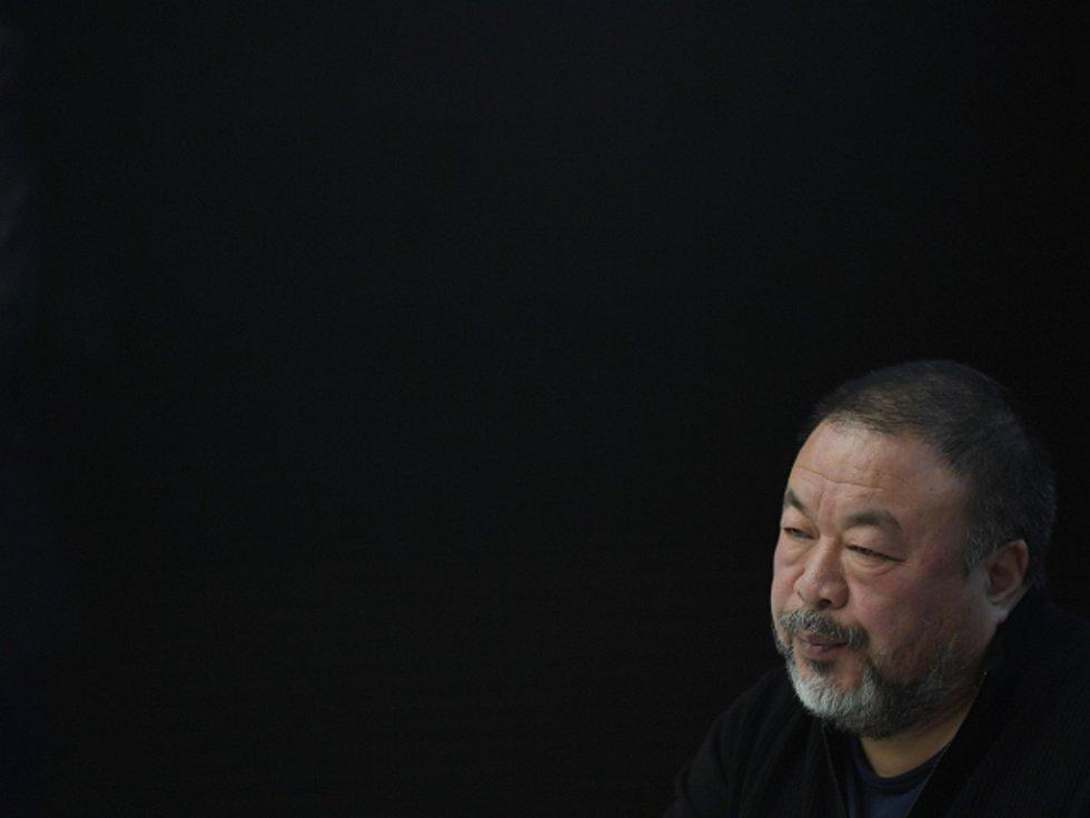 Čínský umělec Aj Wej-wej v Praze.