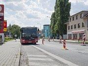 Uzavření ulice Náchodská v Horních Počernicích, dopravní situace. 3.7.2017