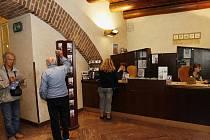 Turistické informační centrum na Staroměstské radnici v Praze.