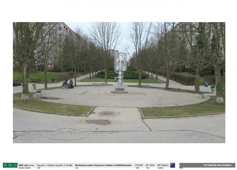 Revitalizace Chaplinova náměstí. Foto pro zákres.