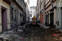 Oprava ulice V Kotcích.
