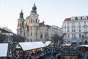 Vánoční trhy na pražském Staromětském náměstí