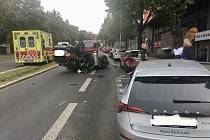 Nehoda v Praze 4.