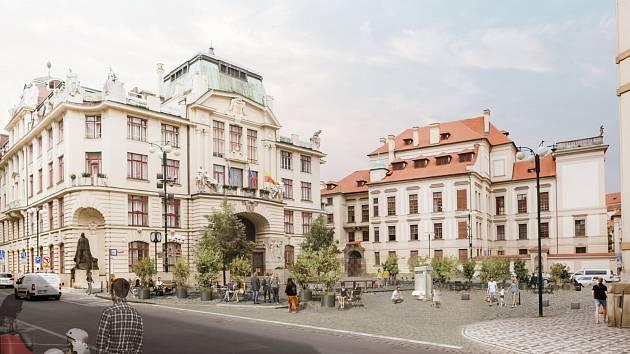 Pohled z Platnéřské ulice. Vizualizace.