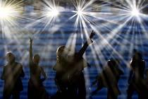 Z muzikálu Mamma Mia! v Kongresovém centru v Praze.