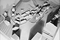 Model nových Buďánek. Plány developera počítají především s bytovou zástavbou.