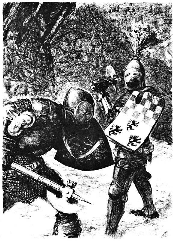 Kurmova ilustrace knihy Křižáci Henryka Sienkiewicze.