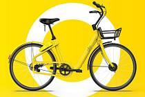 Sdílené žluté kolo.