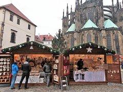 Vánoční trhy na Pražském hradě.
