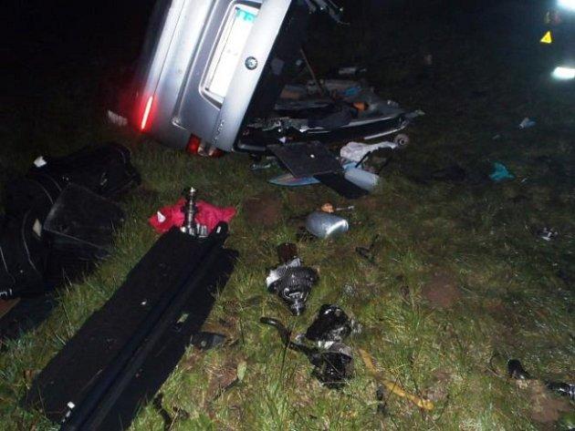 Tragická dopravní nehoda osobního auta na dálnici D5.