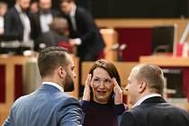 Alexandra Udženija (ODS) na jednání zastupitelstva hlavního města 12. prosince 2019 v Praze.