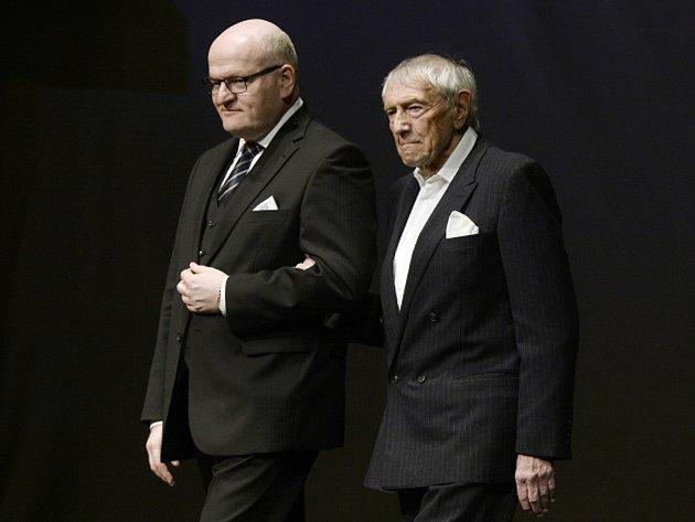 Ministr kultury Daniel Herman (vlevo) a František Miška.