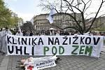 Demonstrace Neničte Kliniku, neničte město! na podporu Autonomního sociálního centra Klinika.