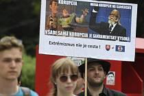 Slováci protestovali proti míře korupce v jejich domovské zemi