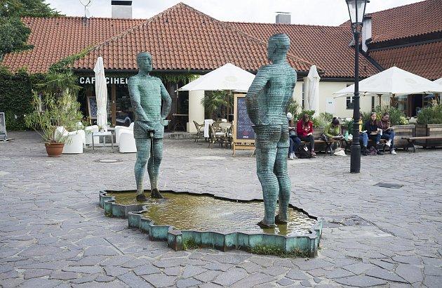 Oblíbená místa Bábor, proudy (čůrající fontána), 15.9.2017