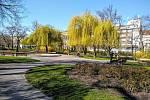Park na Karlově náměstí.