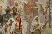 Zahájení výstavy Slovanské epopeje malíře Alfonse Muchy proběhlo 9. května v pražském Veletržním paláci.