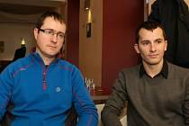 Ivan Buchta (v modrém) a Martin Pezlar