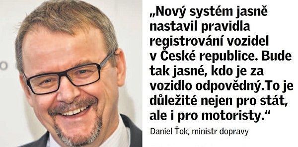 Citát ministra dopravy Daniela Ťoka.