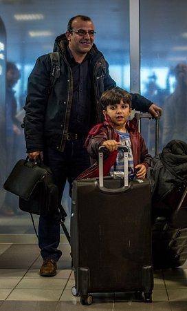 Skupina prvních křesťanských uprchlíků zIráku přiletěla 24.ledna do Prahy.