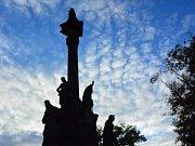 Mariánský sloup na Hradčanském náměstí. Ilustrační foto.