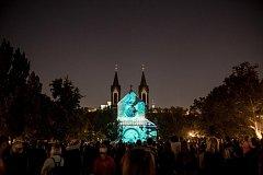 Festival světla Signal 2018 v Praze.