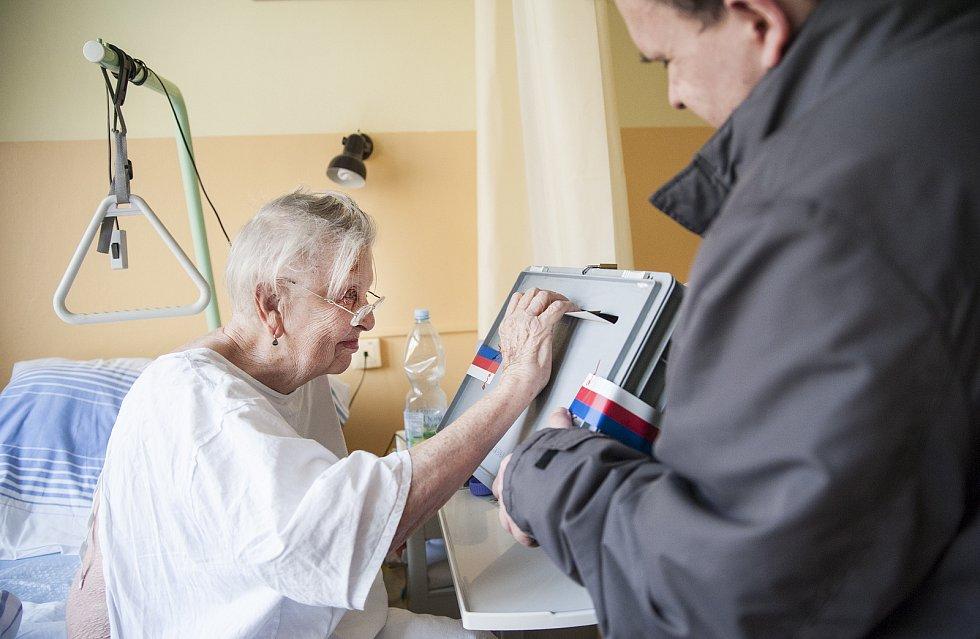 Volení pacientů v Thomayerově nemocnici. 26.1.2018