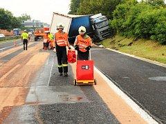 Havárie kamionu na D1.