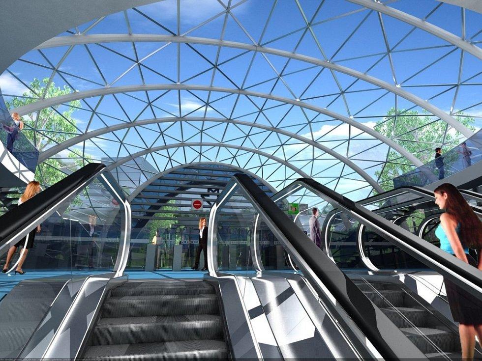 Návrh podoby stanice metra trasy D - Návrh podoby stanice metra trasy D - Nemocnice Krč.