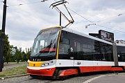 Křest nové tramvaje 15T pojmenované po Františku Křižíkovi.