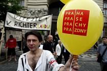 Protest divadelníků.
