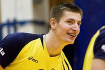 VOLEJBALISTA ČZU Praha a české reprezentace Michal Finger.