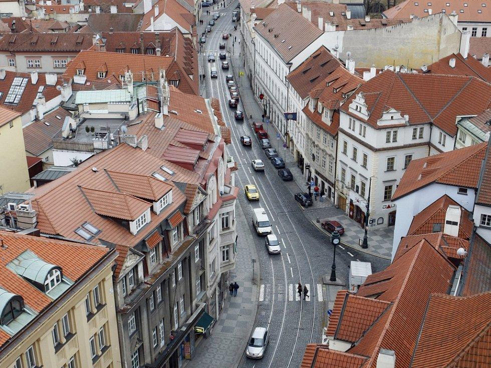Karmelitská ulice v Praze 1.