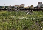 Pozemky mezi nádražím Holešovice a Vltavskou.