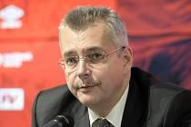 Předseda představenstva fotbalové Slavie Jaroslav Tvrdík.