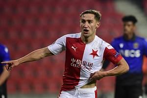 Jan Kuchta měl lví podíl na první jarní výhře Slavie. Pražané v sobotu v Edenu udolali Olomouc 3:1 a Kuchta se zaskvěl dvěma góly.