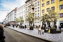 Předláždění ulice Na Žertvách - vizualizace.