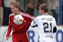 MUŽ ZÁPASU. Tomáš Pechar se postaral svým gólem o tři body pro Vyšehrad. Slavoj porazil v zápase ČFL 1:0 tým Varnsdorfu.