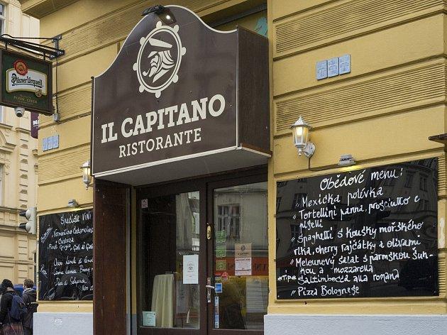 oblíbená místa Michala Ambrože, Restaurace Il Capitano, na rohu ulic Slavíkova a Ondříčkova na Vinohradech, 7.4.2017