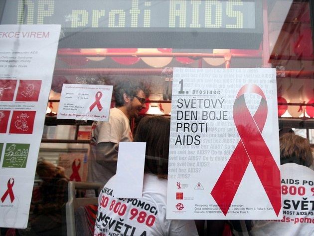 Světový den boje proti AIDS. Ilustrační foto.