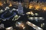 Slavnostní rozsvícení vánočního stromu na Staroměstském náměstí.