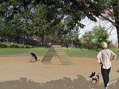 Nová psí louka vznikne v Karlíně. Vizualizace.