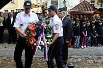 Na Kampě si hasiči připomínají zahynulé záchranáře z New Yorku po teroristickém útoku 11. září 2001.