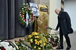 Poslední rozloučení s Michalem Pavlatou. Na snímku Petr Nárožný