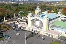 Výstaviště Praha krátce po požáru levého křídla. Ilustrační foto.