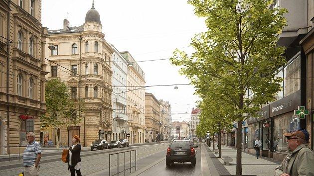 Revoluční ulice po rekonstrukci.