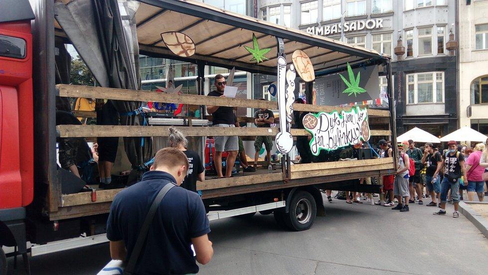 Million Marihuana March 2020. Václavské náměstí.