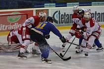 Pražská Slavia v hokejovém zápase s Ústím nad Labem.